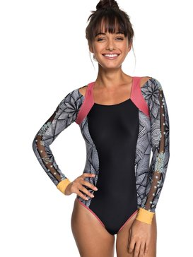 POP Surf - Long Sleeve UPF 50 Zipped One-Piece Rashguard for Women  ERJWR03250