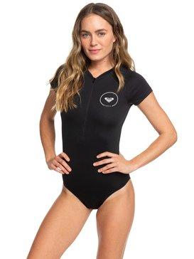 Essentials - Cap Sleeve UPF 50 One-Piece Front Zip Swimsuit for Women  ERJWR03282