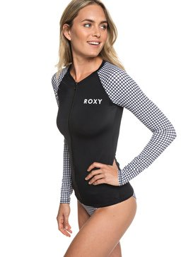 815d5a205eca0 ... ROXY - Long Sleeve UPF 50 Zip-Up Rash Vest for Women ERJWR03288