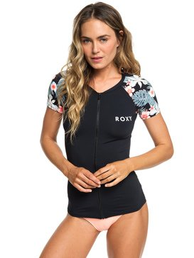 ROXY - Short Sleeve Zipped UPF 50 Rash Vest for Women  ERJWR03289