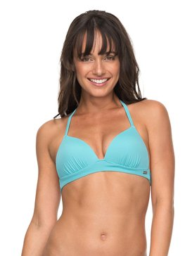 ROXY Essentials - Moulded Tri Bikini Top for Women  ERJX303612