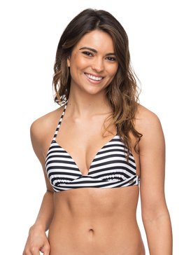 ROXY Essentials - Moulded Tri Bikini Top for Women  ERJX303651