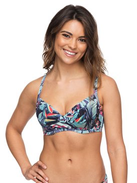 ROXY Essentials - D-Cup Bra Bikini Top for Women  ERJX303654