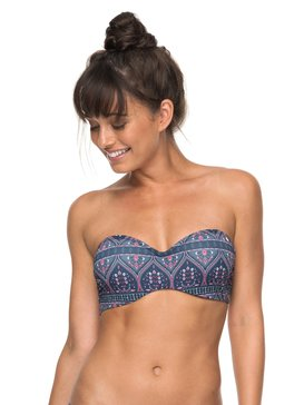 Sun, Surf And ROXY - D-Cup Bandeau Bikini Top  ERJX303660