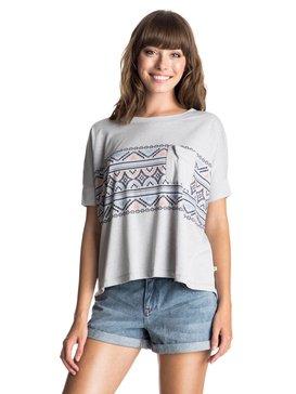 Boxy Pocket Boho Border - T-Shirt  ERJZT03365