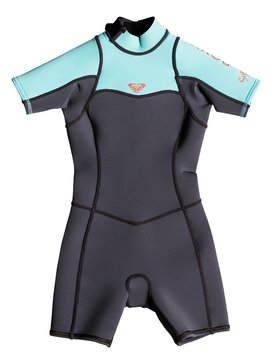 2/2mm Syncro Series - Short Sleeve Back Zip FLT Springsuit for Girls 2-7  ERLW503001