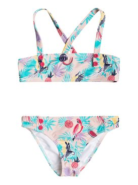 Vintage Tropical - Bandeau Bikini Set for Girls 2-7  ERLX203048