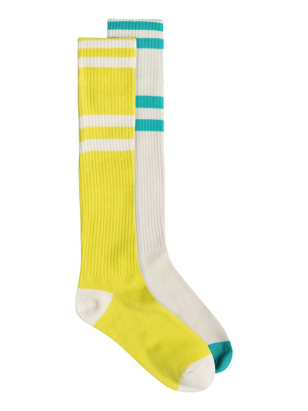0 82197D  2Pk Roxy Logo Athletic Knee High Socks  82197D Roxy