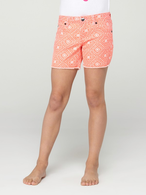 0 Girls 7-14 Long Trail Blazer Shorts  ARGDS00002 Roxy