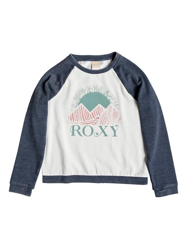 0 Girl's 7-14 Palm Bazaar Sweatshirt Blue ARGFT03067 Roxy