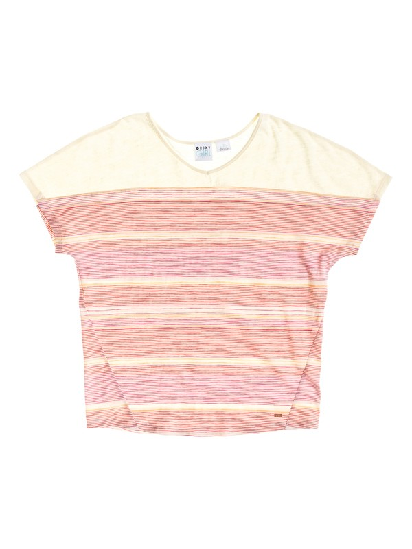 0 Pacific Winds - Oversized Short Sleeve Top  ARGKT03041 Roxy