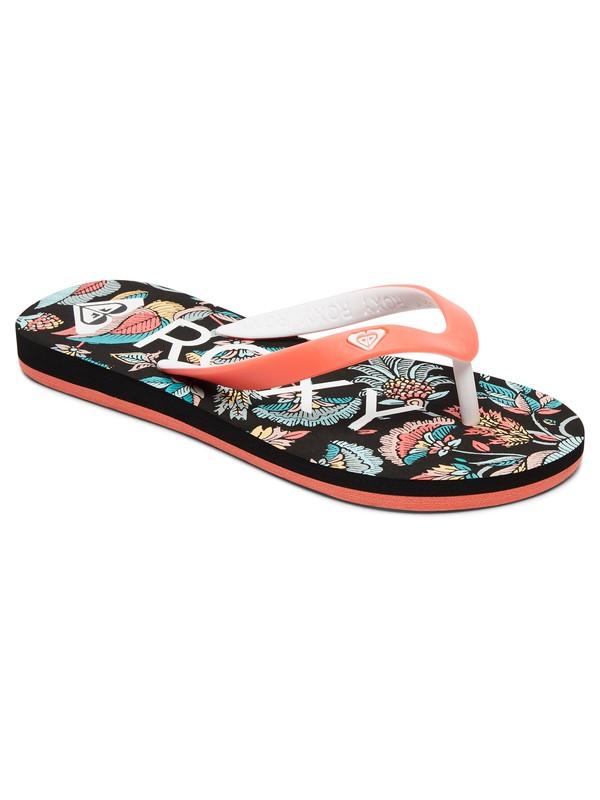 0 Girls 7-14 Tahiti Flip Flops Black ARGL100030 Roxy