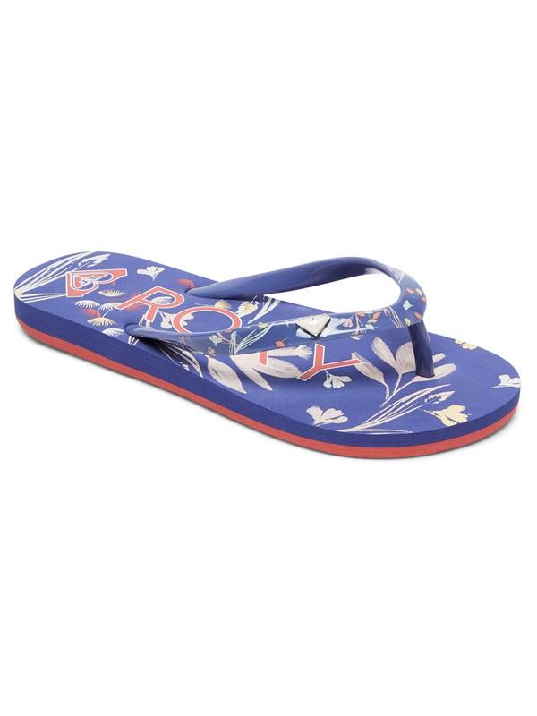 0 Girls 7-14 Pebbles Flip Flops Blue ARGL100031 Roxy