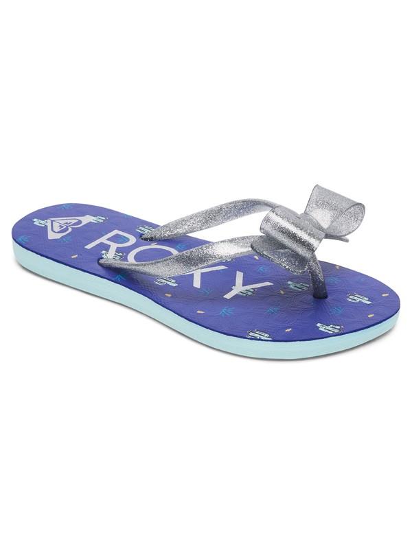 0 Girls 7-14 Lulu Flip Flops Blue ARGL100073 Roxy