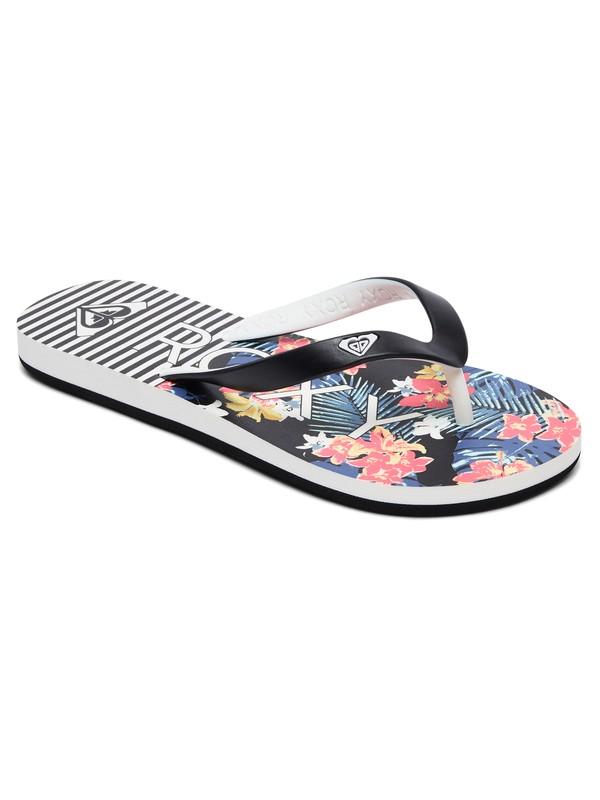 0 Girl's 7-14 Tahiti Flip-Flops Black ARGL100181 Roxy