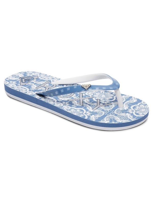 0 Pebbles - Flip-Flops for Girls Blue ARGL100182 Roxy