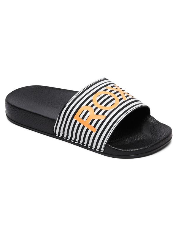 0 Girl's 7-14 Slippy Slider Sandals Black ARGL100198 Roxy
