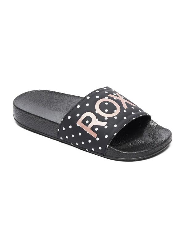 0 Girls 7-14 Slippy Slider Sandals Black ARGL100198 Roxy