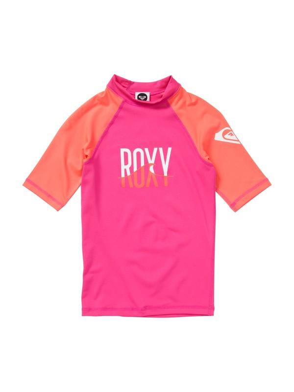 0 Girls 7- 14 Roxy Wave Short Sleeve Rashguard  ARGWR00015 Roxy