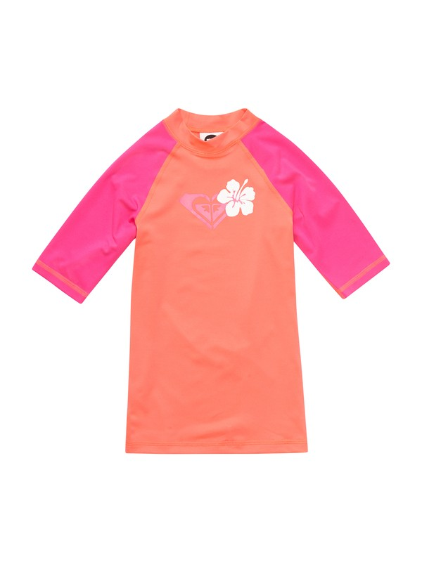 0 Girls 7-14 Island Fever Short Sleeve Rashguard  ARGWR00022 Roxy