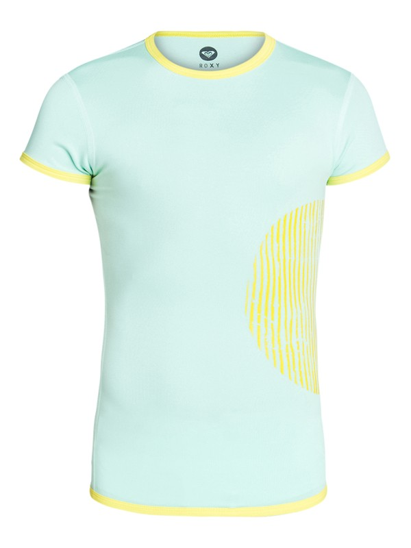 0 Girls 7-14 Roxy Sunset Short Sleeve Rashguard  ARGWR03010 Roxy