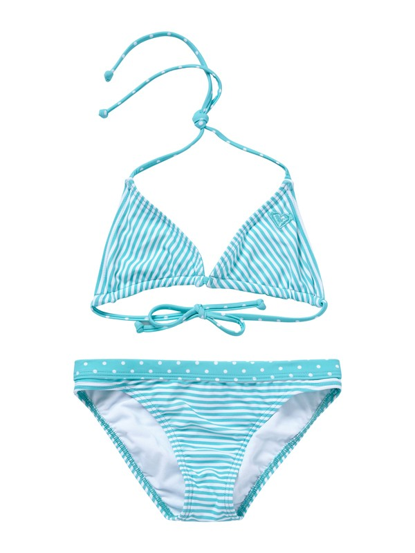 0 Girls 7-14 Doll Face Dot Tiki Tri Set Swimsuit  ARGX200003 Roxy