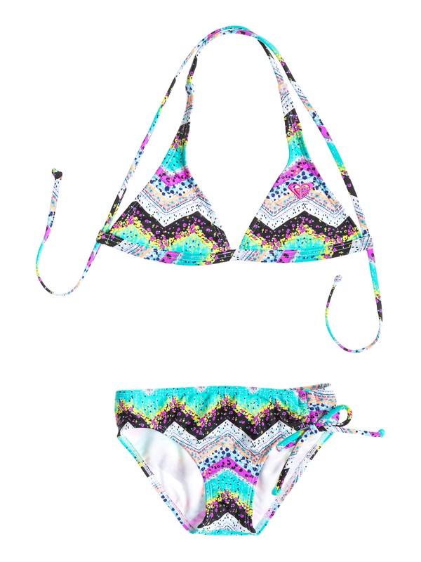 0 Girls 7-14 Sea Hippie Criss Cross Halter Set With Cups Swimsuit  ARGX200025 Roxy