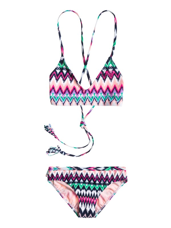 0 Girls 7-14 Criss Cross Swim Set  ARGX203008 Roxy