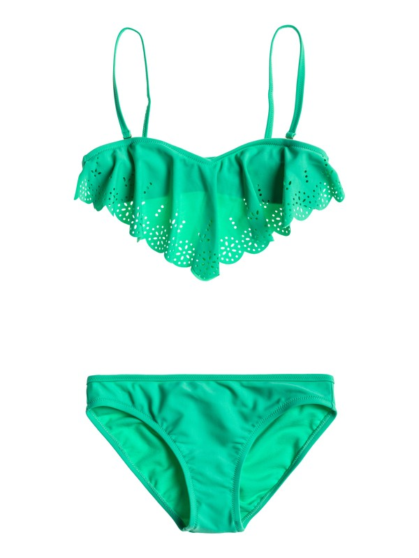 0 Girls 7-14 Flutter Swim Set  ARGX203010 Roxy