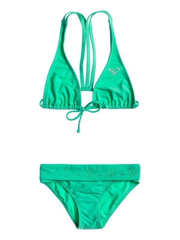 0 Girls 7-14 Rio Halter Bikini Set  ARGX203012 Roxy