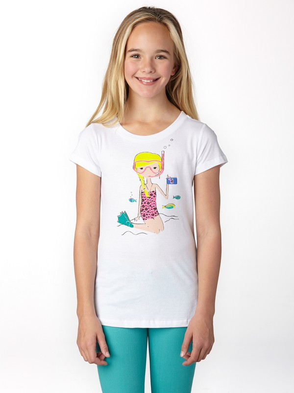 0 Girls 7-14 Snorkle Girl Tee  ARGZT00204 Roxy