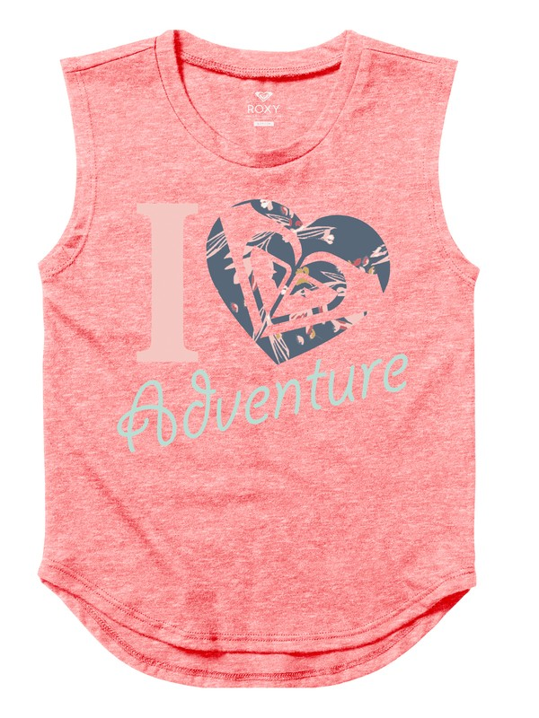0 Girl's 7-14 Heart Adventure Muscle Vest Pink ARGZT03169 Roxy