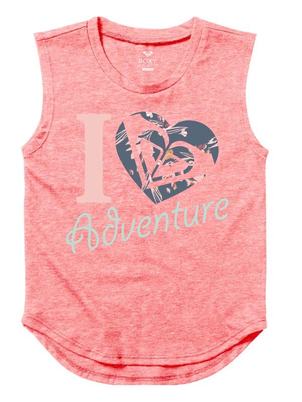 0 Girls 7-14 Heart Adventure Muscle Tank  ARGZT03169 Roxy