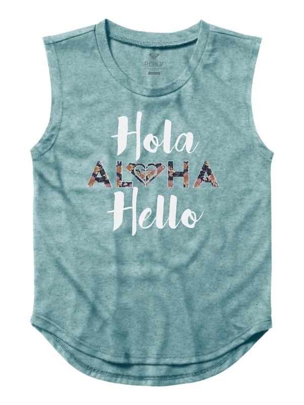 0 Girl's 7-14 Hola Hello Sleeveless Tee  ARGZT03181 Roxy