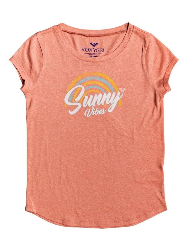 0 Girl's 7-14 Sunny Vibes Tee Pink ARGZT03260 Roxy