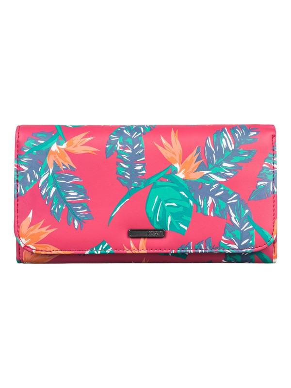 0 My Long Eyes - Printed Faux-Leather Tri-Fold Wallet  ARJAA03103 Roxy
