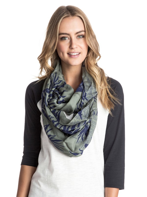 0 Care For Flair - Printed Infinity Scarf  ARJAA03114 Roxy
