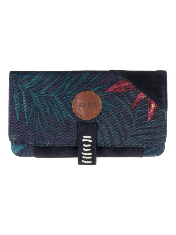 0 Beach Grounded - Vegan-Suede Bi-Fold Wallet  ARJAA03128 Roxy