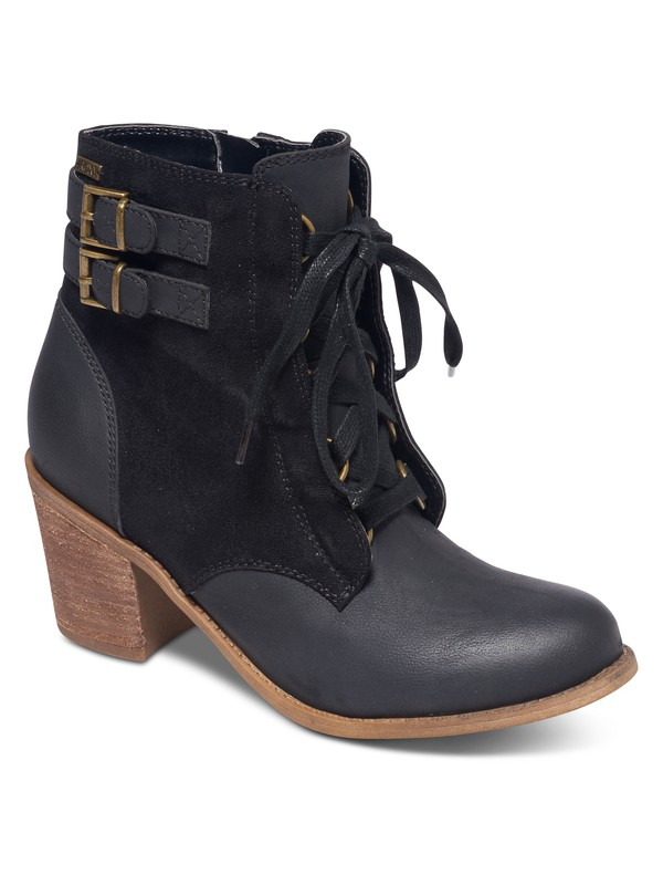 0 Tempe Lace- Up Heeled Ankle Boots  ARJB700369 Roxy