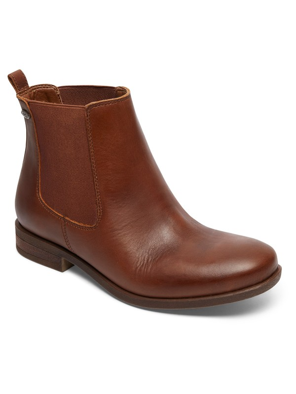 0 Diaz - Leather Chelsea Boots for Women Brown ARJB700542 Roxy