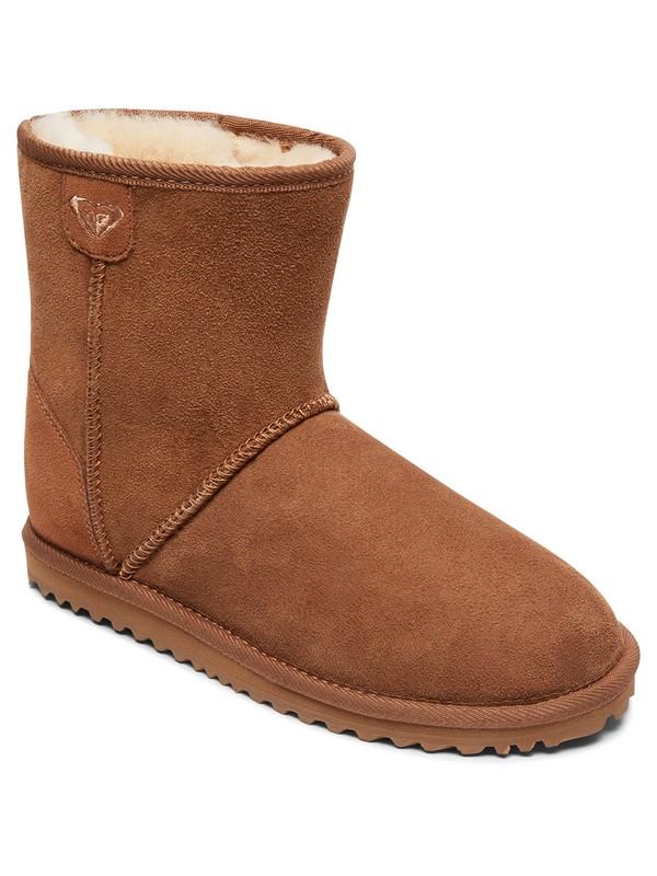 0 Renton - Sheepskin Boots for Women Brown ARJB700553 Roxy