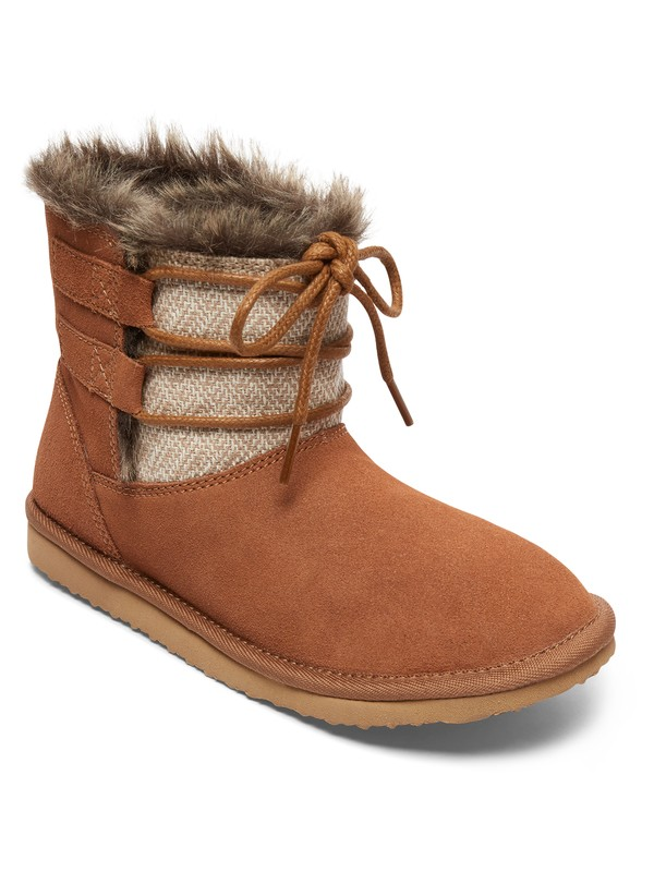0 Tara - Suede Boots for Women Brown ARJB700554 Roxy