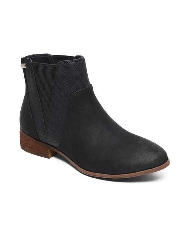 0 Linn - Mid-Heel Boots for Women Black ARJB700592 Roxy