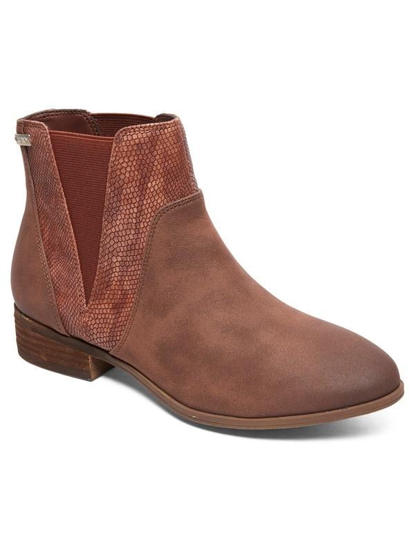 0 Linn - Mid-Heel Boots for Women Brown ARJB700592 Roxy