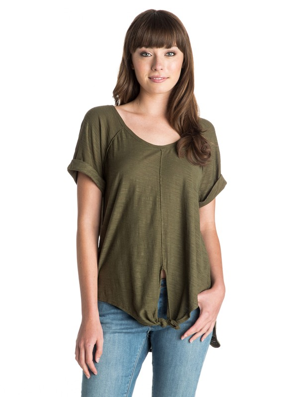0 Middle Ranch Front-Tie Top  ARJKT03116 Roxy