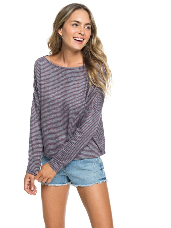 0 Your Time - Long Sleeve Wrap-Back Top for Women Red ARJKT03261 Roxy