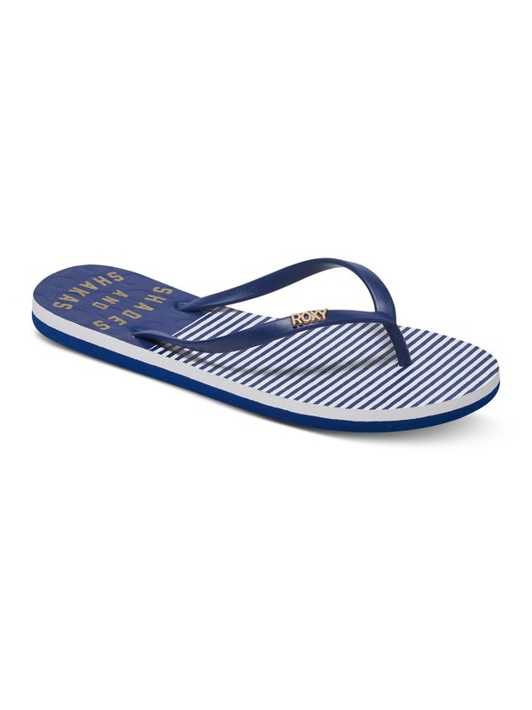 0 Viva Stamp - Flip-Flops for Women Blue ARJL100543 Roxy
