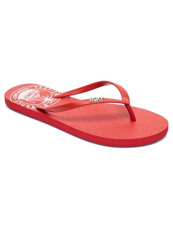0 Viva Stamp Flip Flops Red ARJL100543 Roxy