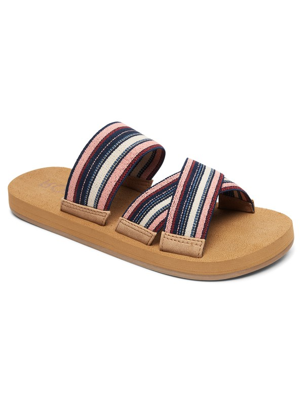 0 Shoreside Criss-Cross Sandals Blue ARJL100656 Roxy