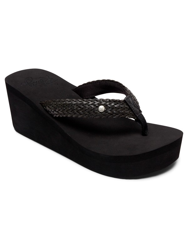 0 Mellie Wedge Sandals Black ARJL100675 Roxy